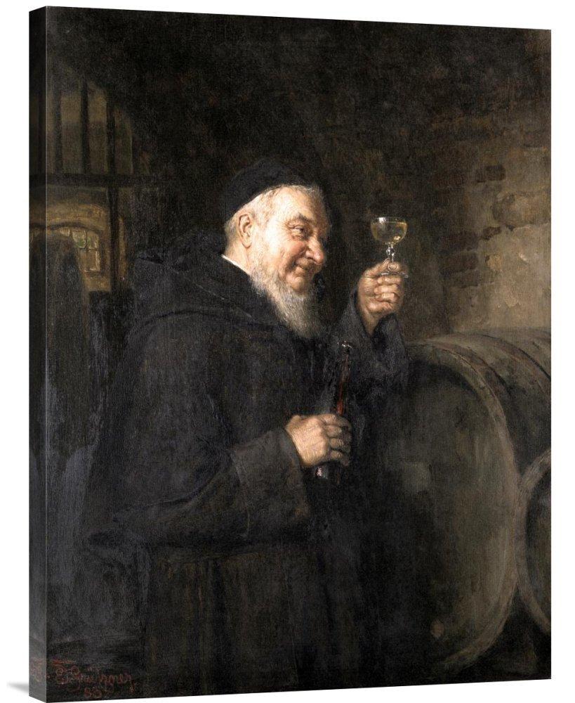 Global Gallery GCS-277822-30-142 ''Eduard Von Grutzner Good Health'' Gallery Wrap Giclee on Canvas Wall Art Print
