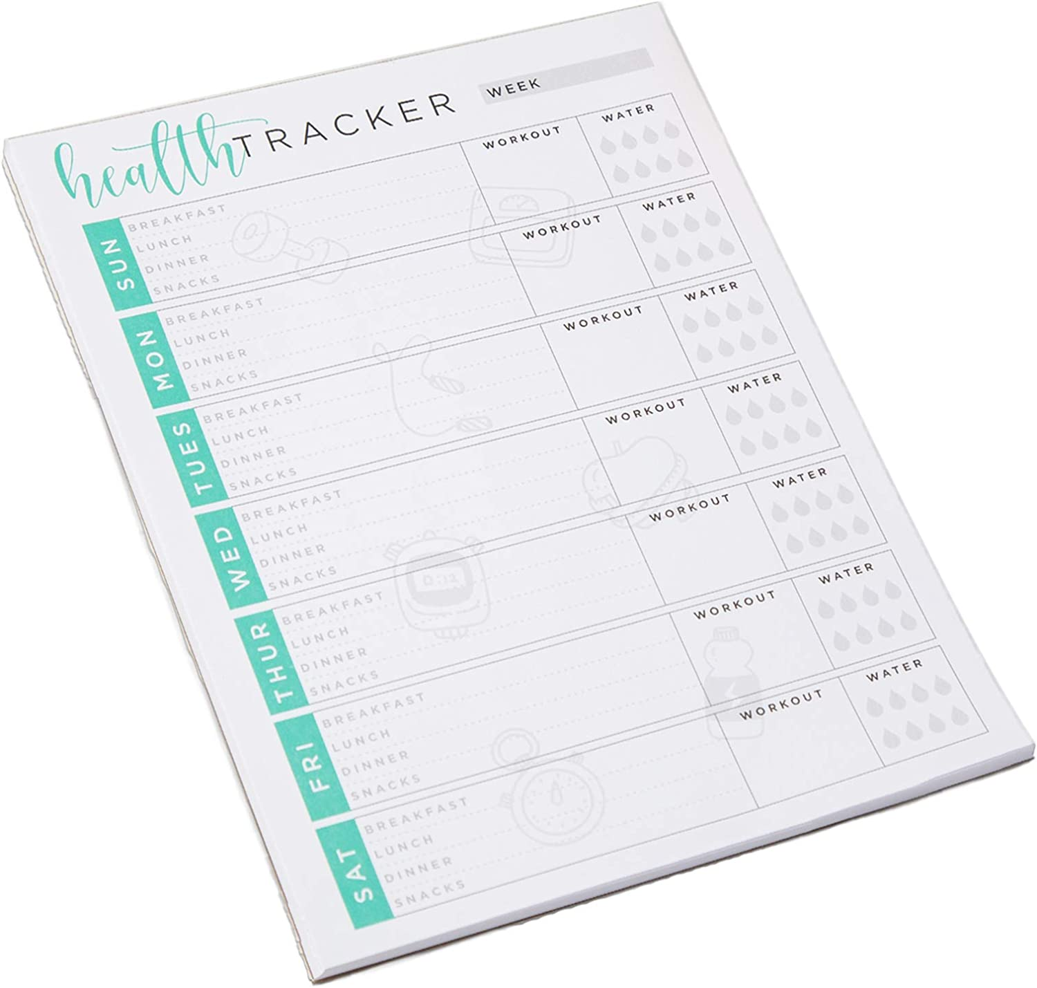 Tiny Expressions - Weekly Health & Wellness Tracker Journal (8.5