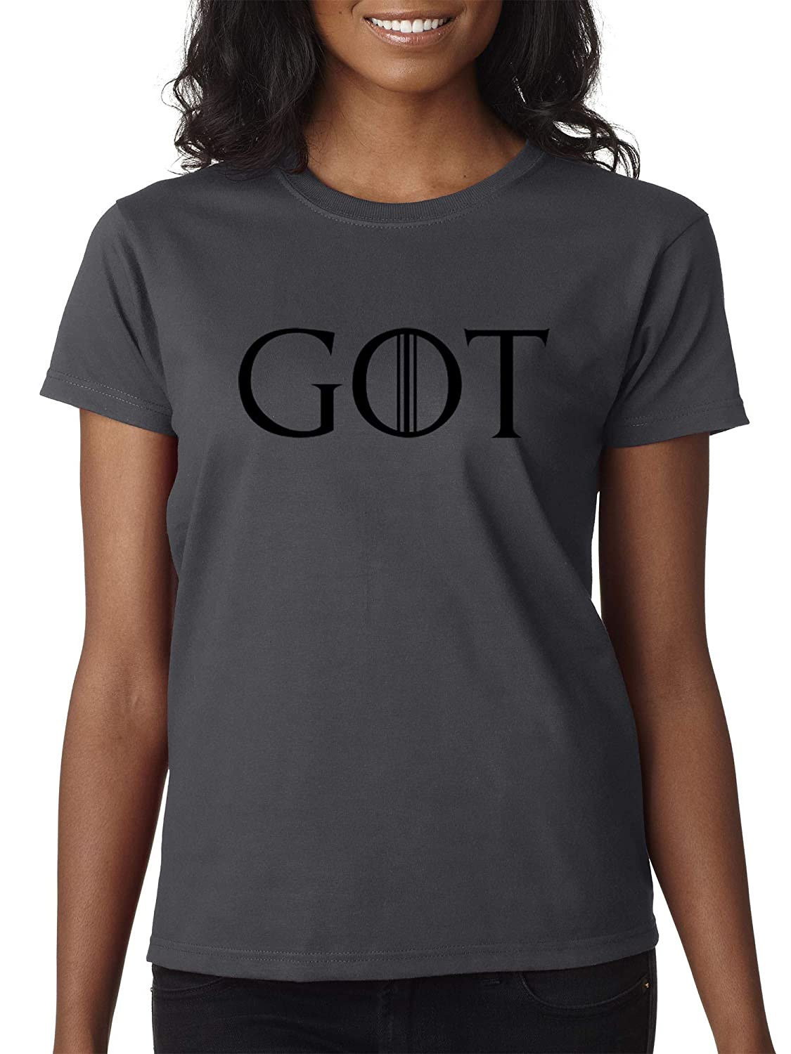 Charcoal Trendy USA 1215  Women's TShirt GOT Game of Thrones TV Show Series