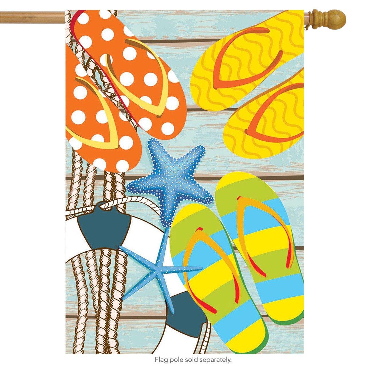 "Flip Flops on the Dock Summer Windsock Nautical 50/""L"