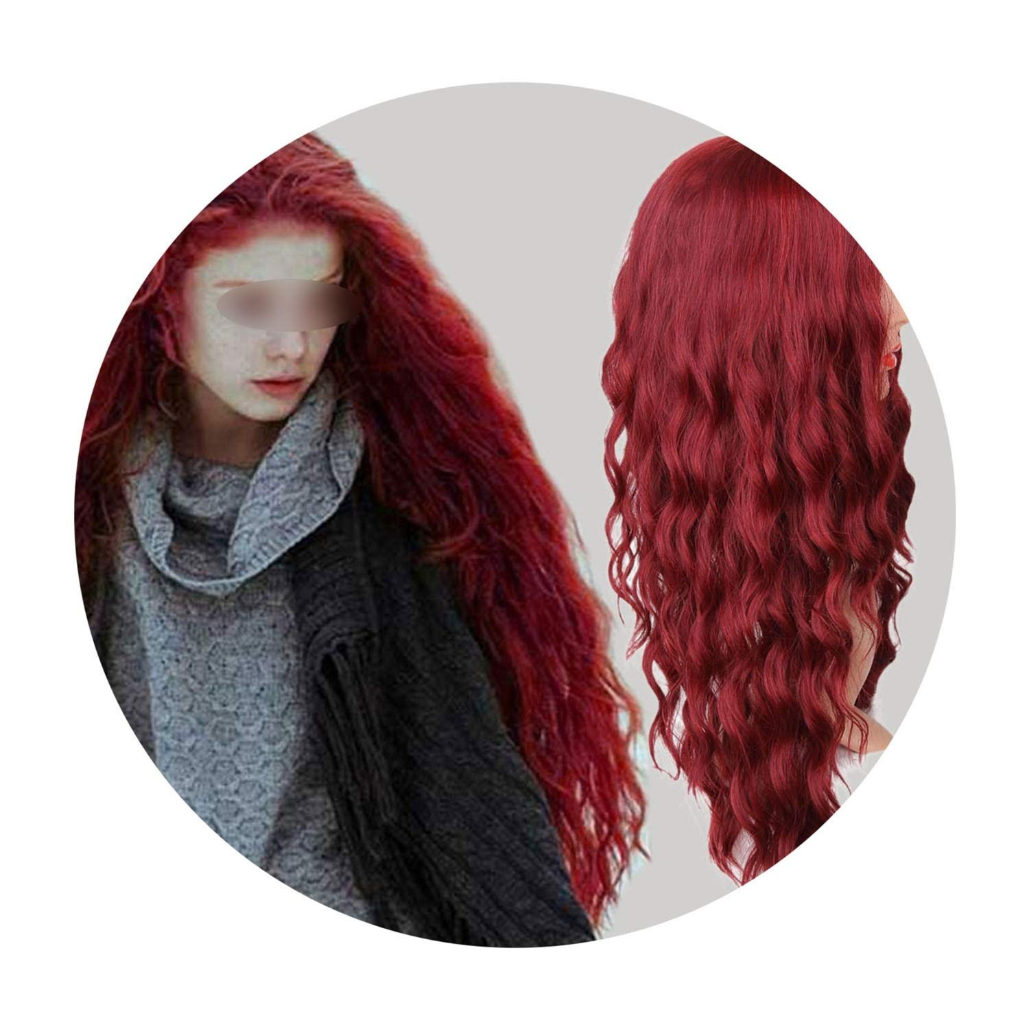 Amazon Com Wigsit S A Wig 30 Synthetic Red Black Dark