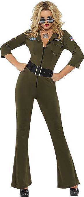 Smiffys- Licenciado Oficialmente Aviador de Top Gun, Verde, con ...