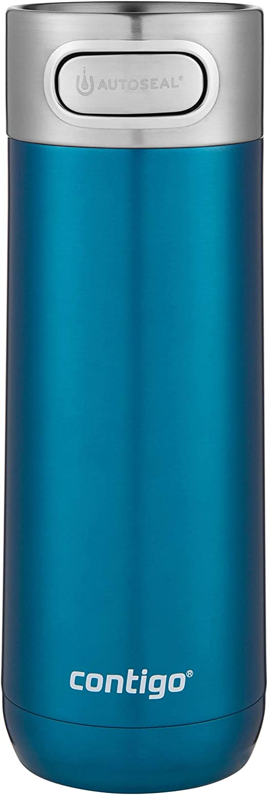 16 oz. Contigo Luxe AUTOSEAL Vacuum-Insulated Travel Mug Spill-Proof Coffee Mug with Stainless Steel THERMALOCK Double-Wall Insulation Stainless Steel