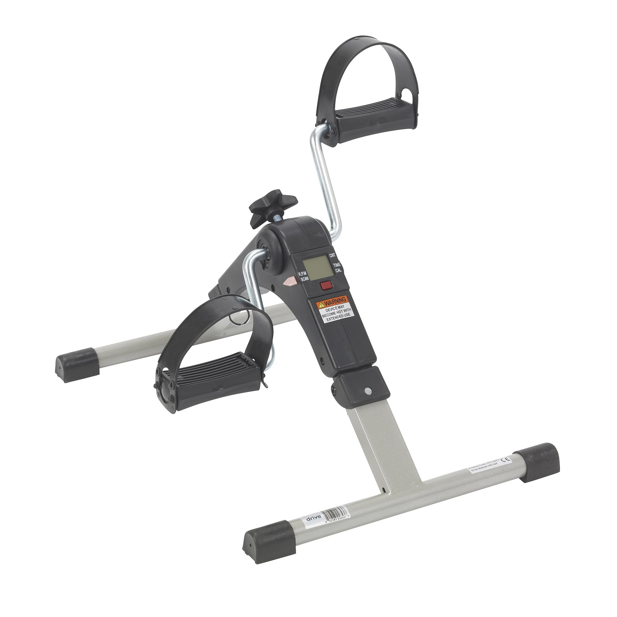 Drive Medical Deluxe Folding Exercise Peddler with Electronic Display , Black Model # RTL10273 by Drive Medical (Image #1)