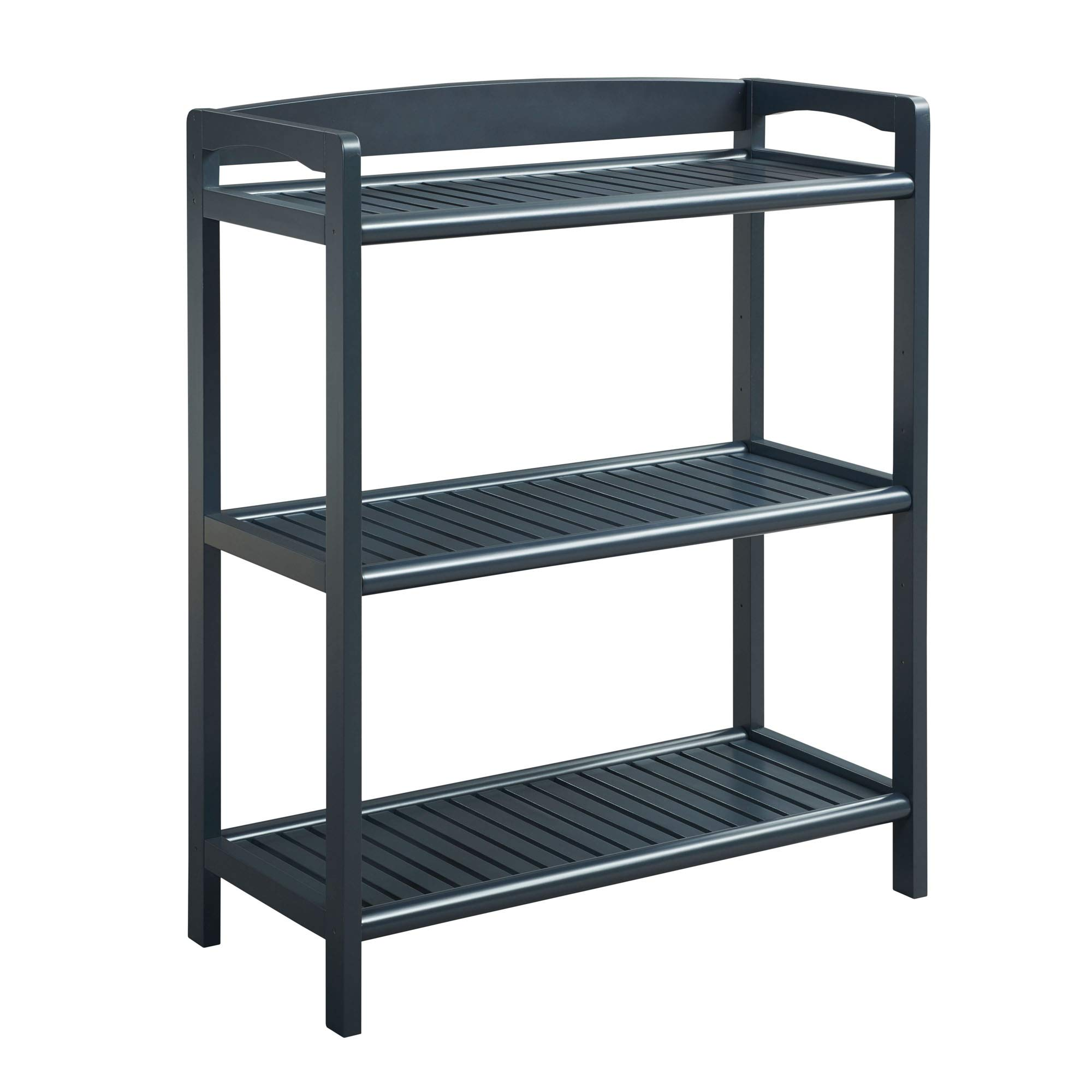 New Ridge Home Goods 2283-GRA Bookshelf Media Console with Adjustable Shelf, One Size, Graphite by New Ridge Home Goods