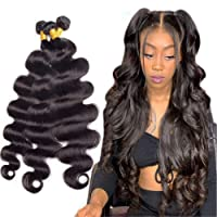 Brazilian Body Wave Human Hair Bundles 12A Unprocessed Remy Human Hair Bundles Weave...