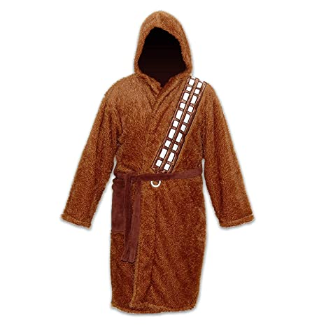 12bb53c59e Image Unavailable. Image not available for. Color  Mens Brown Fleece  Chewbacca Star Wars Dressing Gown