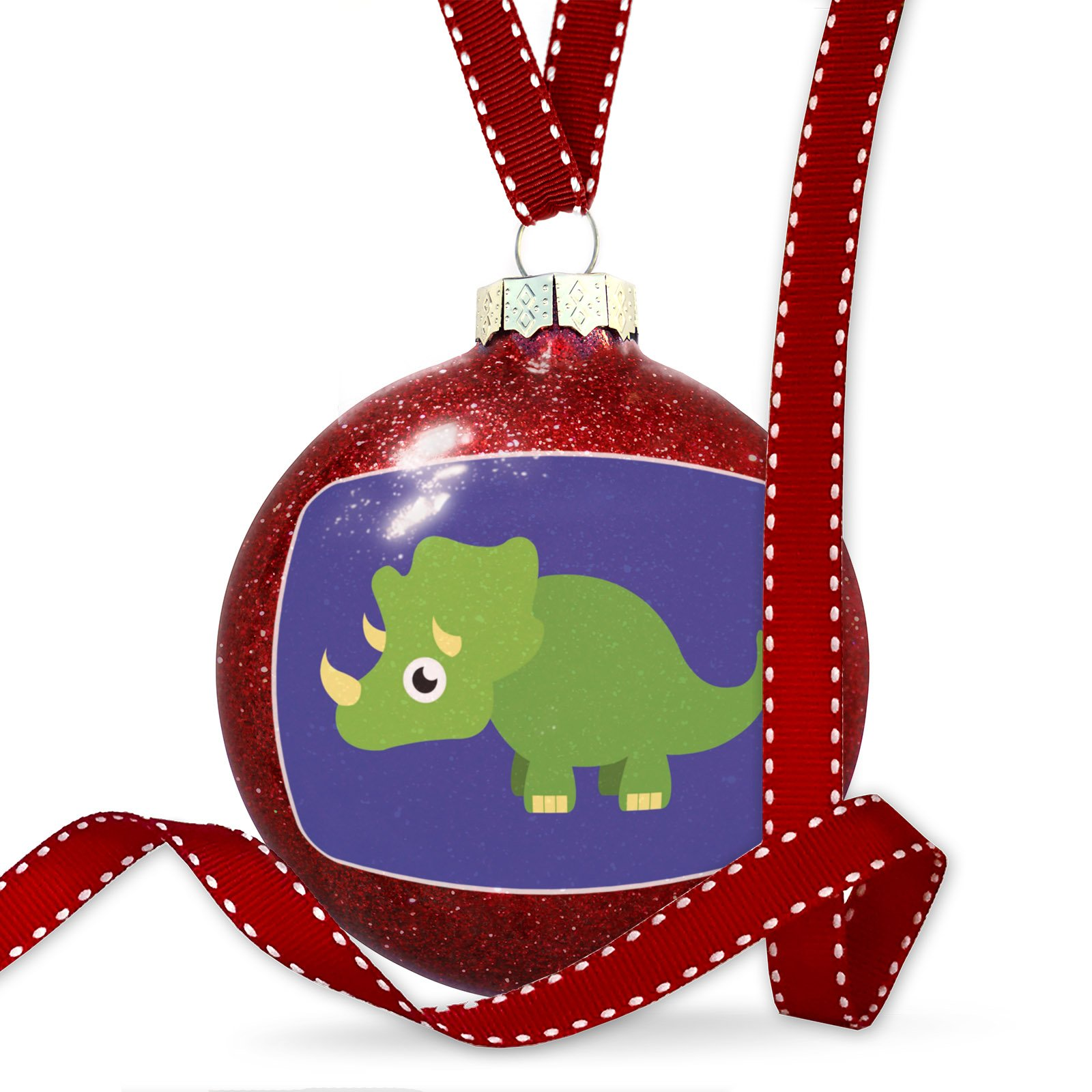 Christmas Decoration Cute Animals for Kids Triceratops Ornament