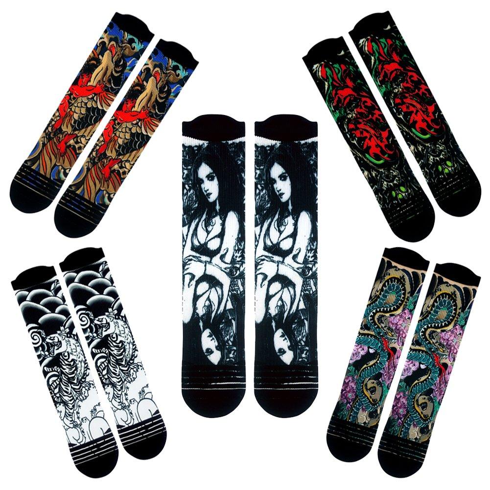 WXXM SOCKSHOSIERY メンズ B0749KYDS4 2 Pairs-novelty Socks A03 2 Pairs-novelty Socks A03