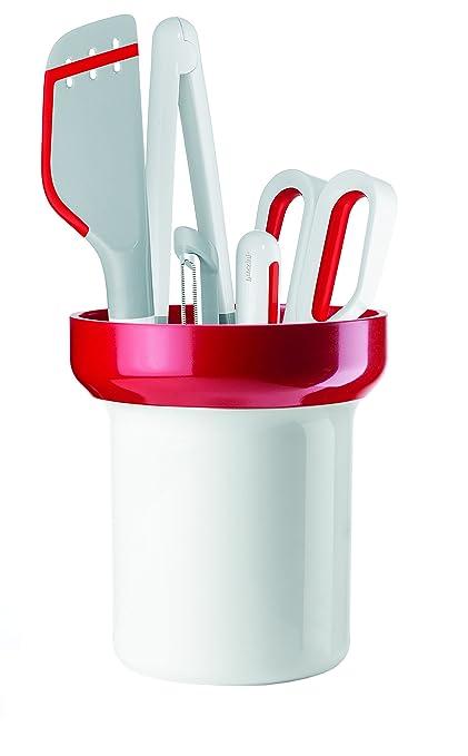 Guzzini Kitchen Active Design Set 5 Utensili con Contenitore, SAN/PA ...