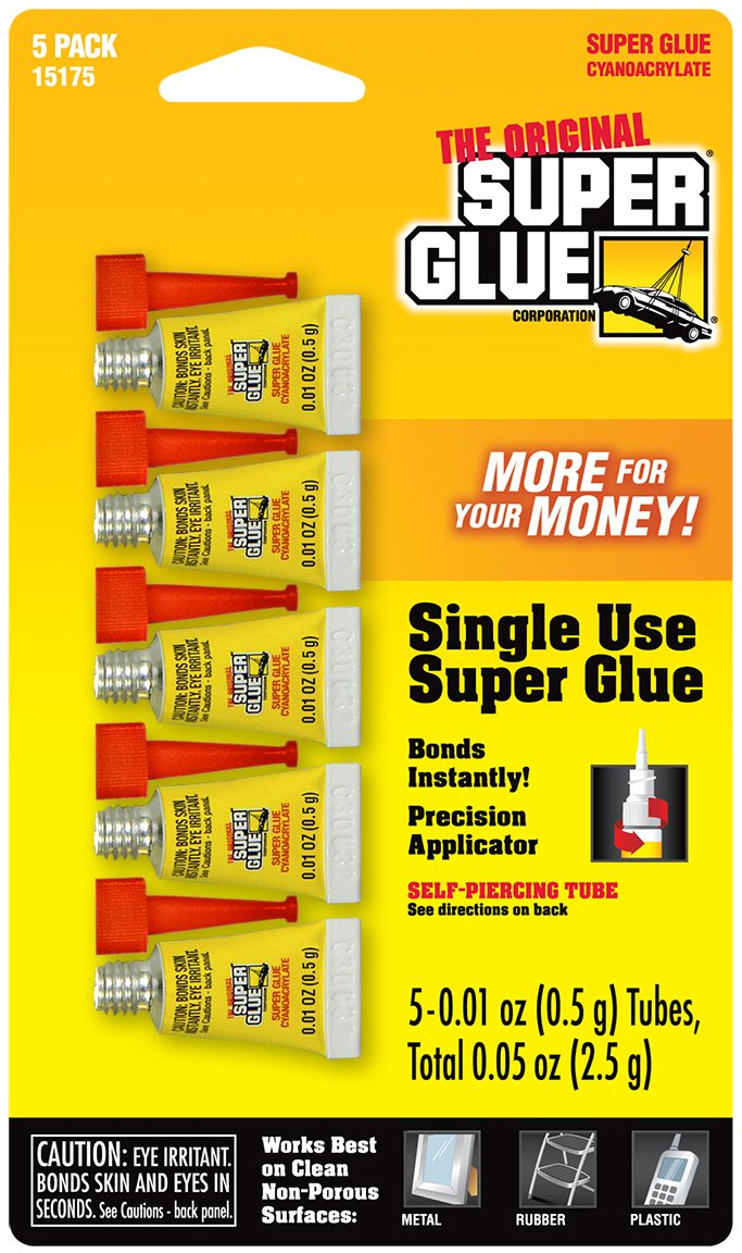 Super Glue Super Glue 15175-12 Single-Use Minis, 60-Pack(Pack of 60) by Super Glue (Image #1)