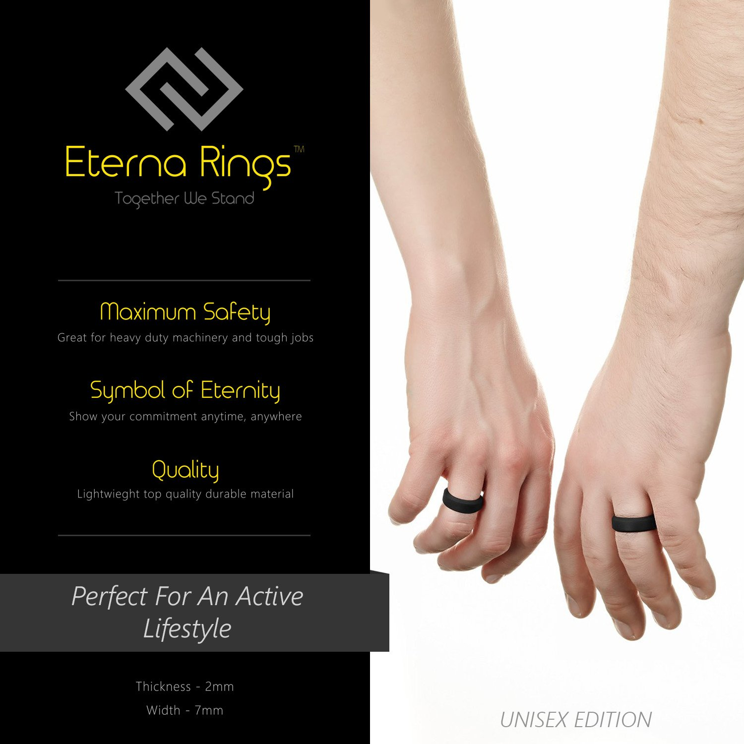 eterna active wide silicone ring women for men amazon or outdoors dp com wedding rings band sports engagement