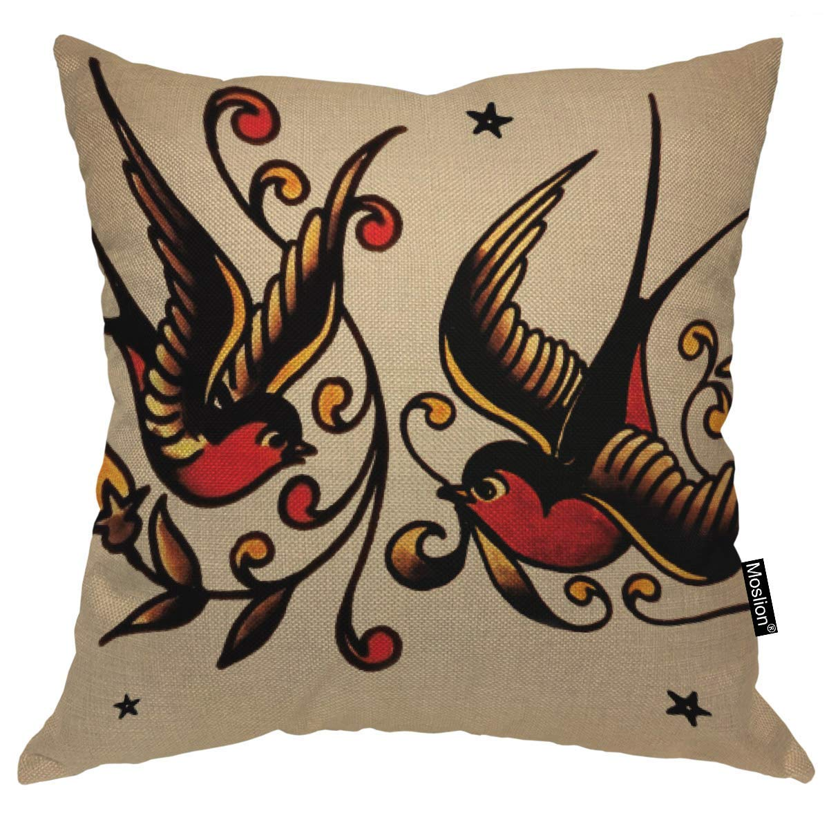 odin sky Throw Pillow Cover Swallow Cool Little Star Patrón Floral ...
