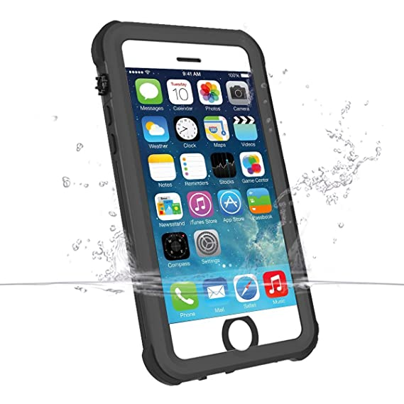 online store 7f911 772c7 iPhone SE 5S 5 Waterproof Case, iThrough iPhone SE Underwater Case, Dust  Drop Snow Shock Proof, IP68 Touch ID Heavy Duty Protective Carrying ...