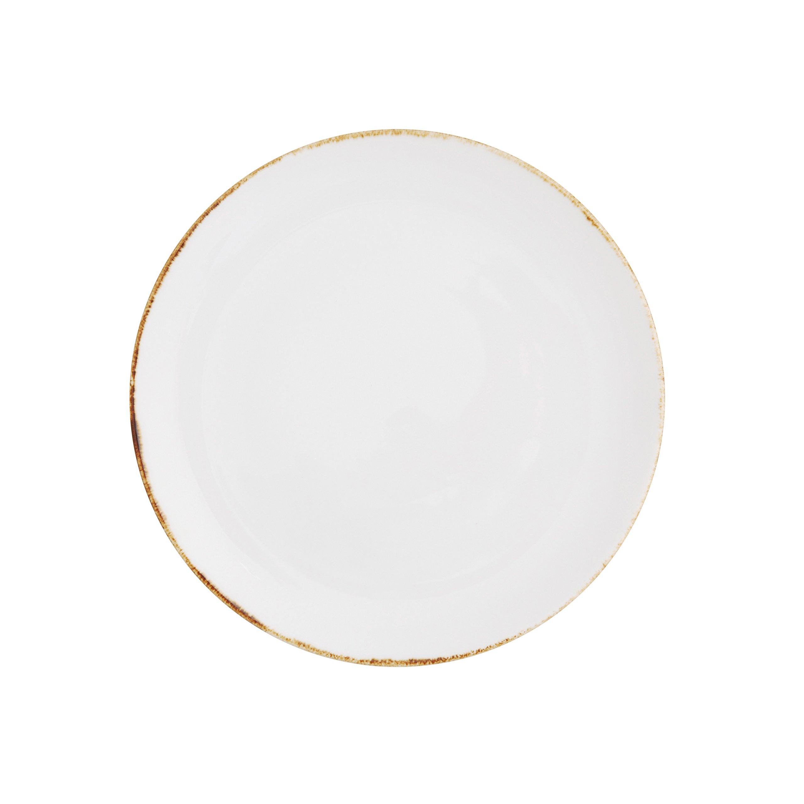 D&V Salt TechnoCeram Coupe Appetizer/Bread Plate (Set of 4), 6.5'', White