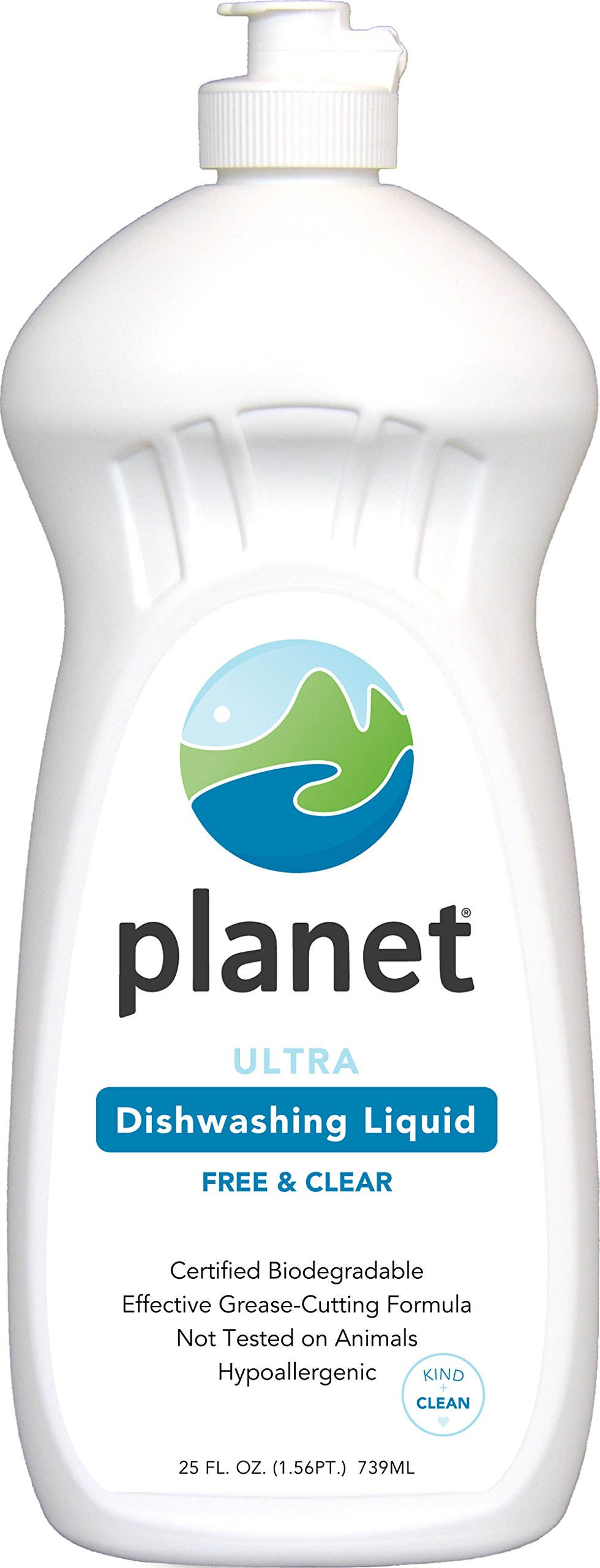 Planet Ultra Dishwashing Liquid, 25 Fluid Ounce Bottles (Pack of 12)