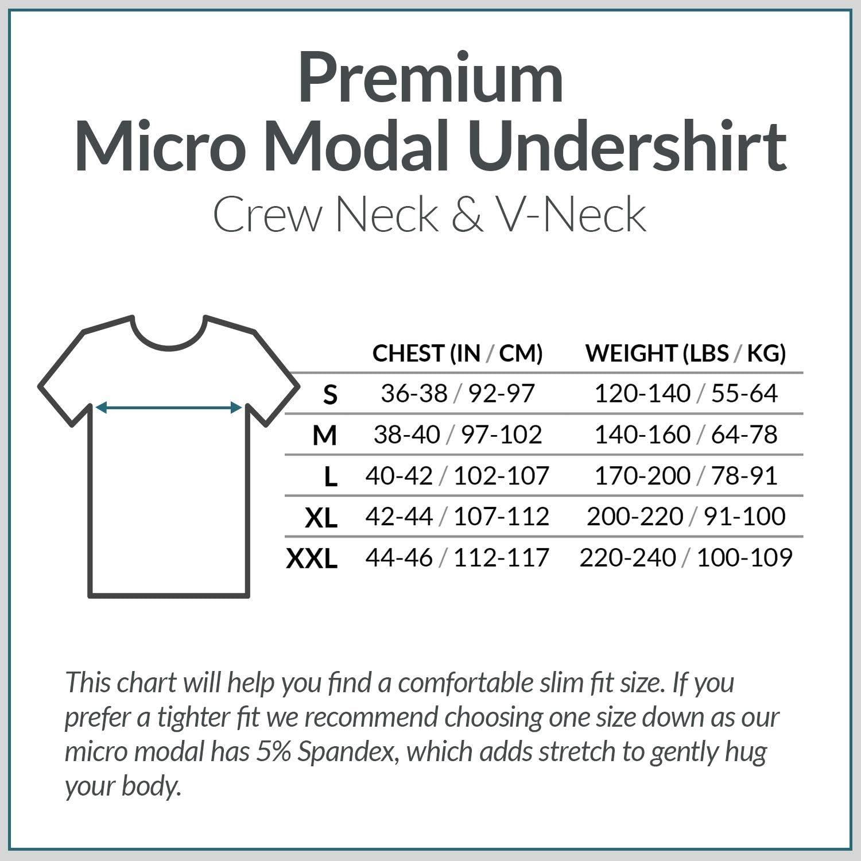 Paquete de 3 Micro Modal Camisetas con Cuello de Pico Anti-Olor Camiseta Interior para Hombre Elis