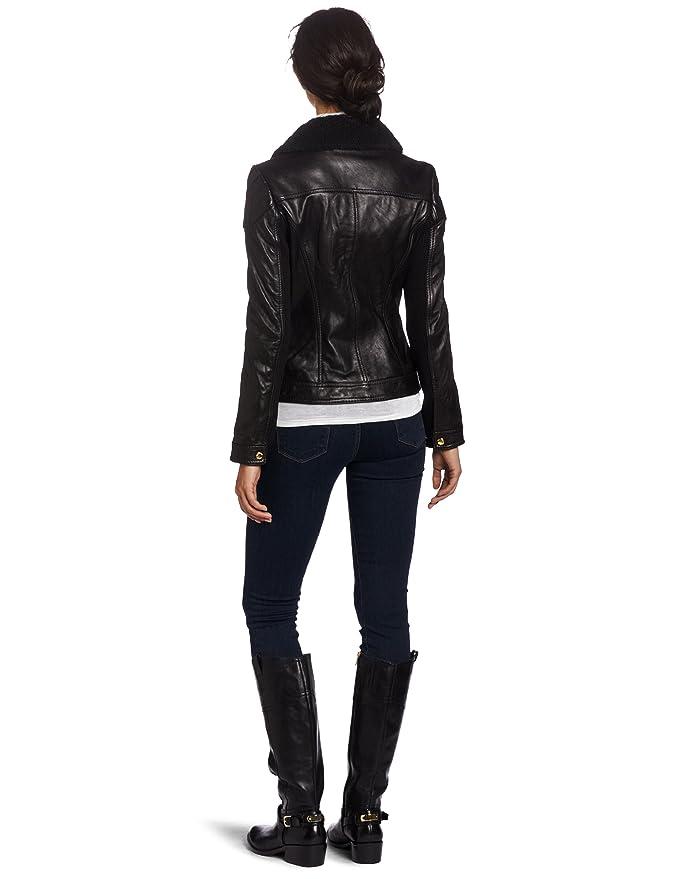 499656a1ea8ffc MICHAEL Michael Kors Women's Leather Zip-Front Jacket at Amazon Women's  Coats Shop