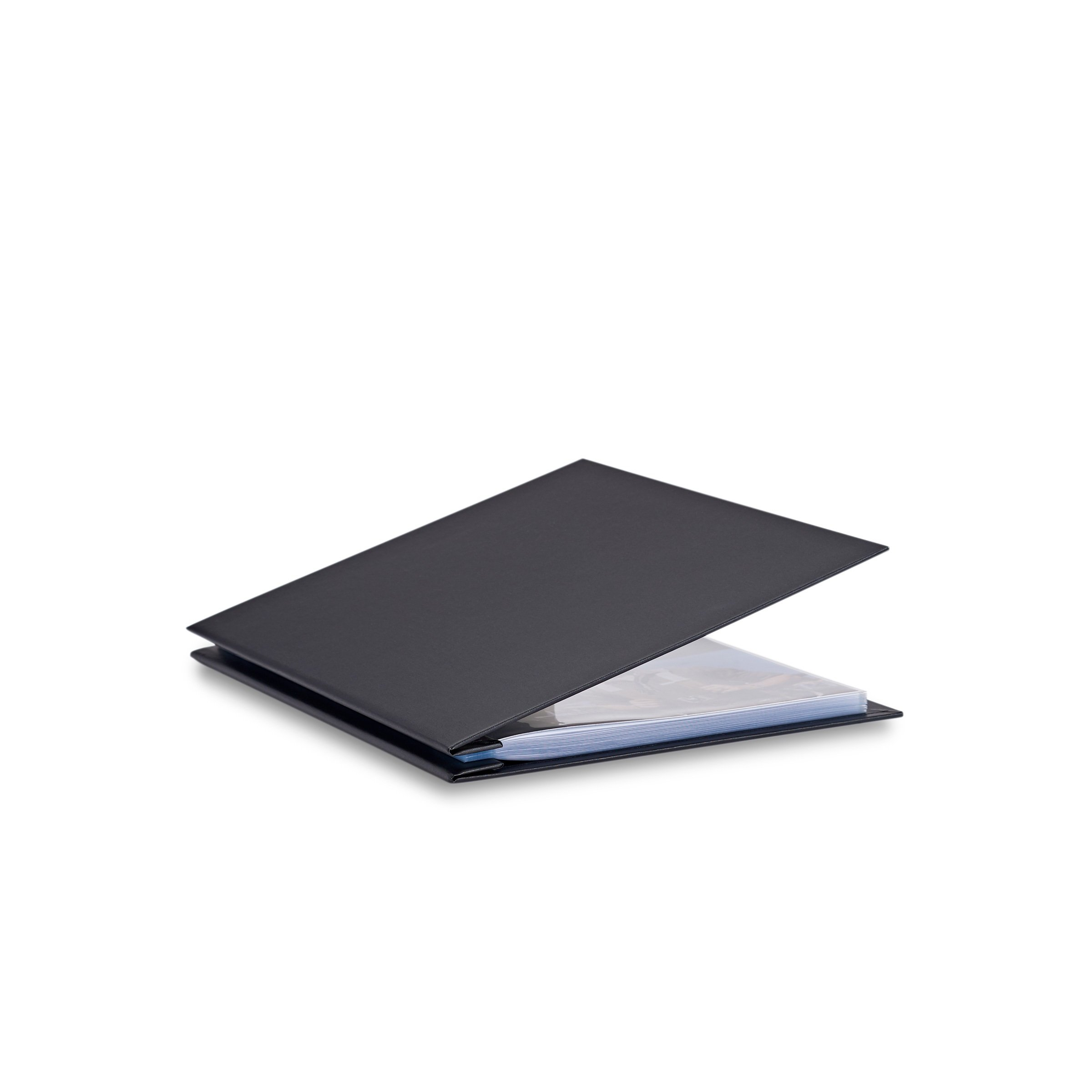 Pina Zangaro Bex 8.5x11 Portriat Screwpost Binder Black, Includes 20 Pro-Archive Sheet Protectors (34053)