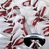 50pcs bordeaux Autoschleifen aus Satin Hochzeit Antennenschleifen Hochzeit Deko Autoschmuck Autoschleifen Schleife Satinband für Hochzeit
