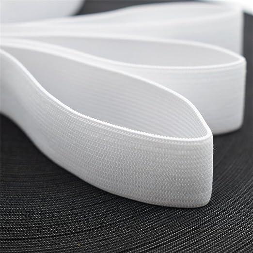 1 longue bande de couture /élastique Toruiwa Plate Accessoire de bricolage et dartisanat 13,7/m de long et 1,5/cm de large Blanc