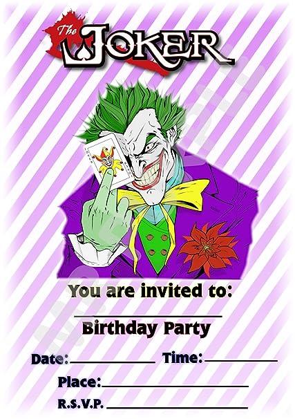Batman The Joker fiesta de cumpleaños invitaciones - diseño ...