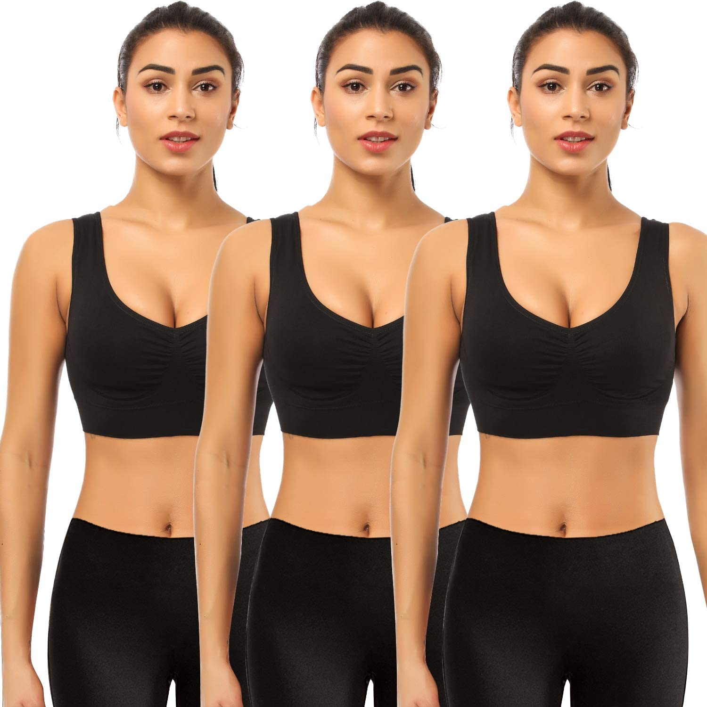 SEVEGO Womens Athletic Sports Bra Mesh Back Seamless Medium Impact with Removable Pads Hook Raceback Yoga Gym Bra Maroon L Back Slit Cut