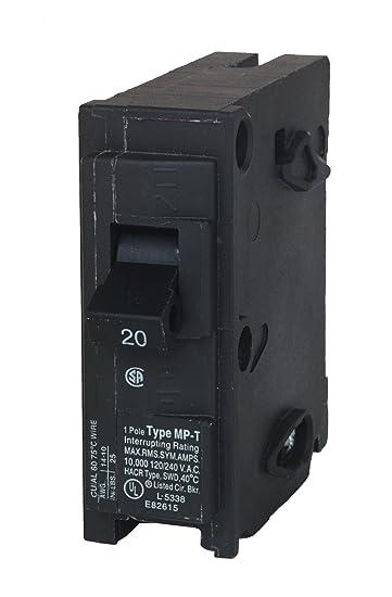 MP120 20-Amp Single Pole Type MP-T Circuit Breaker - - Amazon.com