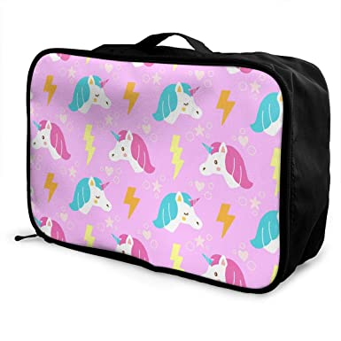 5d026c301fe3 Amazon.com: Pink Unicorn Lightning Travel Lightweight Large Capacity ...