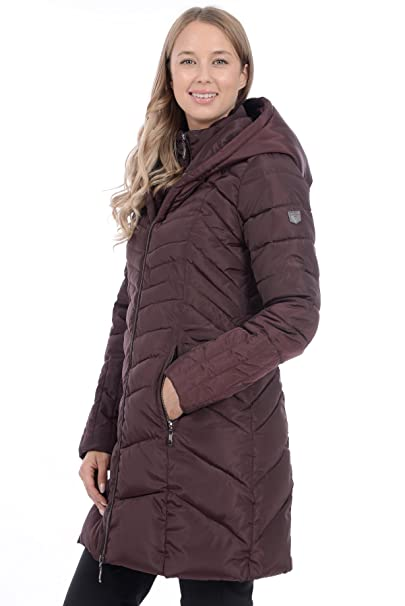 eb84e24bc9e RedX Canada Women s Knee Length Polyfill Quilted Winter Coat (Burgundy