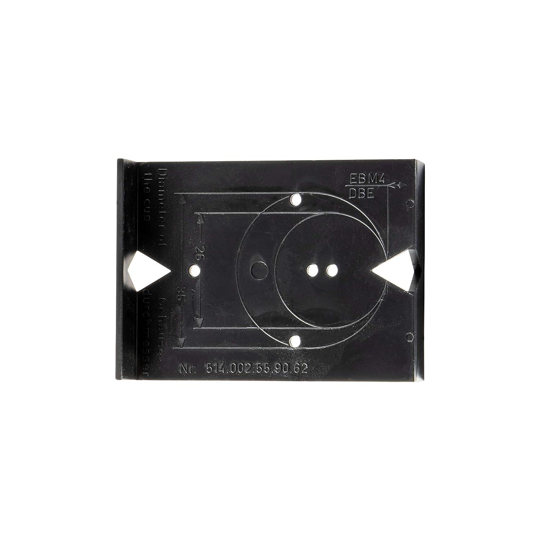 Gedotec Bohrschablone Topfscharnier Bohrlehre M/öbelscharnier Ank/örn-Schablone f/ür K/üchen-Scharniere /& Topfb/änder BLACK JIG 1 St/ück Kunststoff schwarz Schablone f/ür Lochreihe mit 32 mm Raster