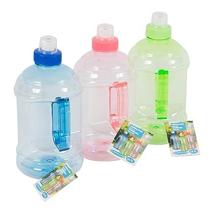 Botella de plástico de 1litro, con asa, para detergente l&iacute