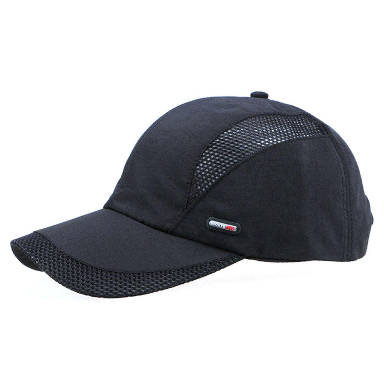 9c8abf2ec32a6 ... Men and women snapback cap quick dry summer sun hat visor Hip-Hop bone  breathable chapeu casual mesh men Baseball caps Army Green : Sports &  Outdoors