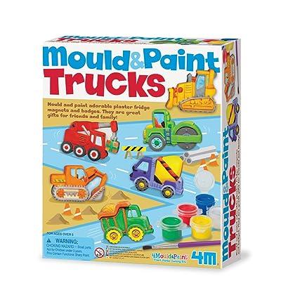4M - Mould & Paint Trucks (004M3538): Juguetes y juegos