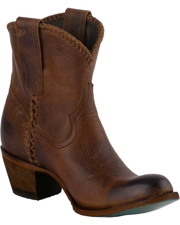 Lane Women's Plain Jane Cognac Ankle Boot Round Toe - Lb0359h B0794H31Y4 7.5 B(M) US|Brown