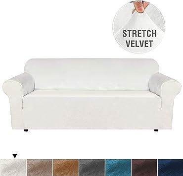 Elegant Luxury Velvet Plush Sofa Cover Stretch Furniture Cover for Living, Stretch Slipcover Sofa Covers for 3 Seat Couch Slipcover/Lounge Covers, ...