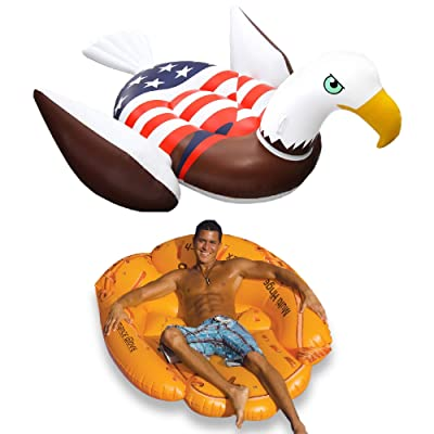 Swimline Inflatable Giant American Bald Eagle Float & Giant Baseball Glove Float: Toys & Games
