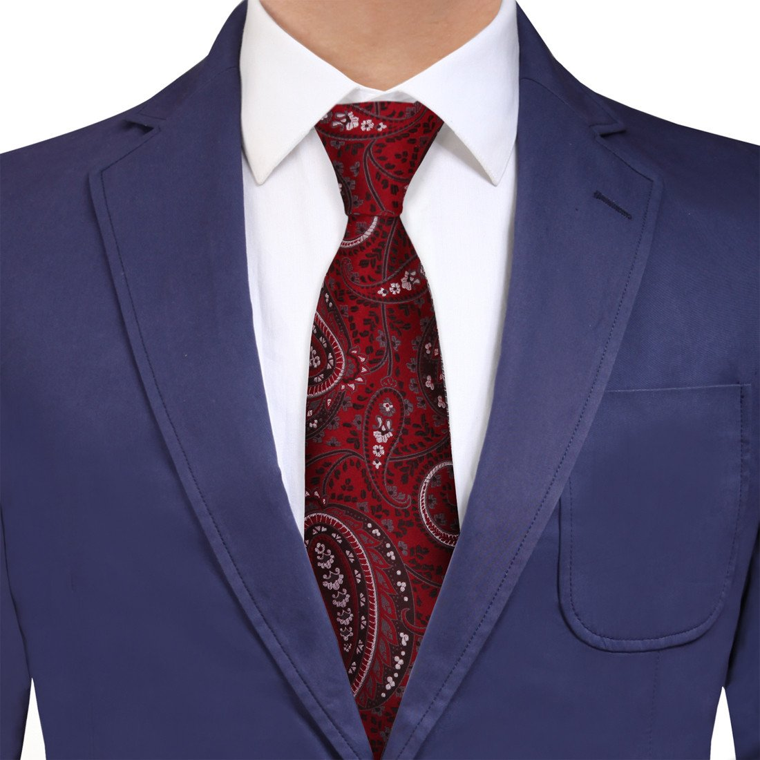 YAQB0033 Red Black Paisley Discount For Business Woven Jacquard Silk Tie Gift Idea For Waistcoat Neck Tie By Y&G
