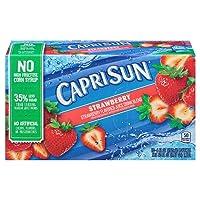Deals on 40-Pack Capri Sun Strawberry Juice Drink Pouches 6Oz