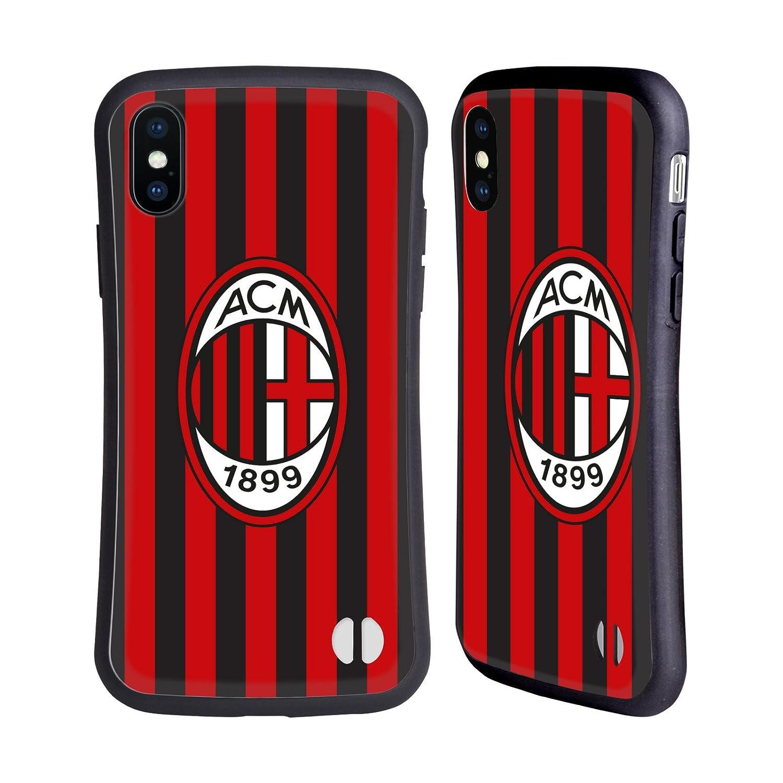 Ufficiale AC Milan In Casa 2018/19 Kit Cresta Case Ibrida per iPhone 7/iPhone 8 Head Case Designs HHYBK-IPH7-ACMCKT-HOM