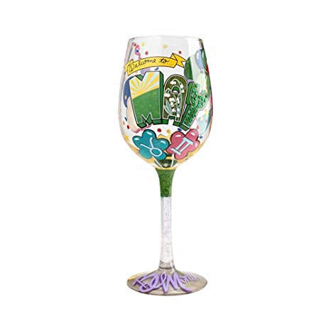 b9a2c1e4c29 Image Unavailable. Image not available for. Color  Enesco 4058065 Designs  By Lolita quot May Birthday quot  Hand-Painted Artisan Wine Glass 15