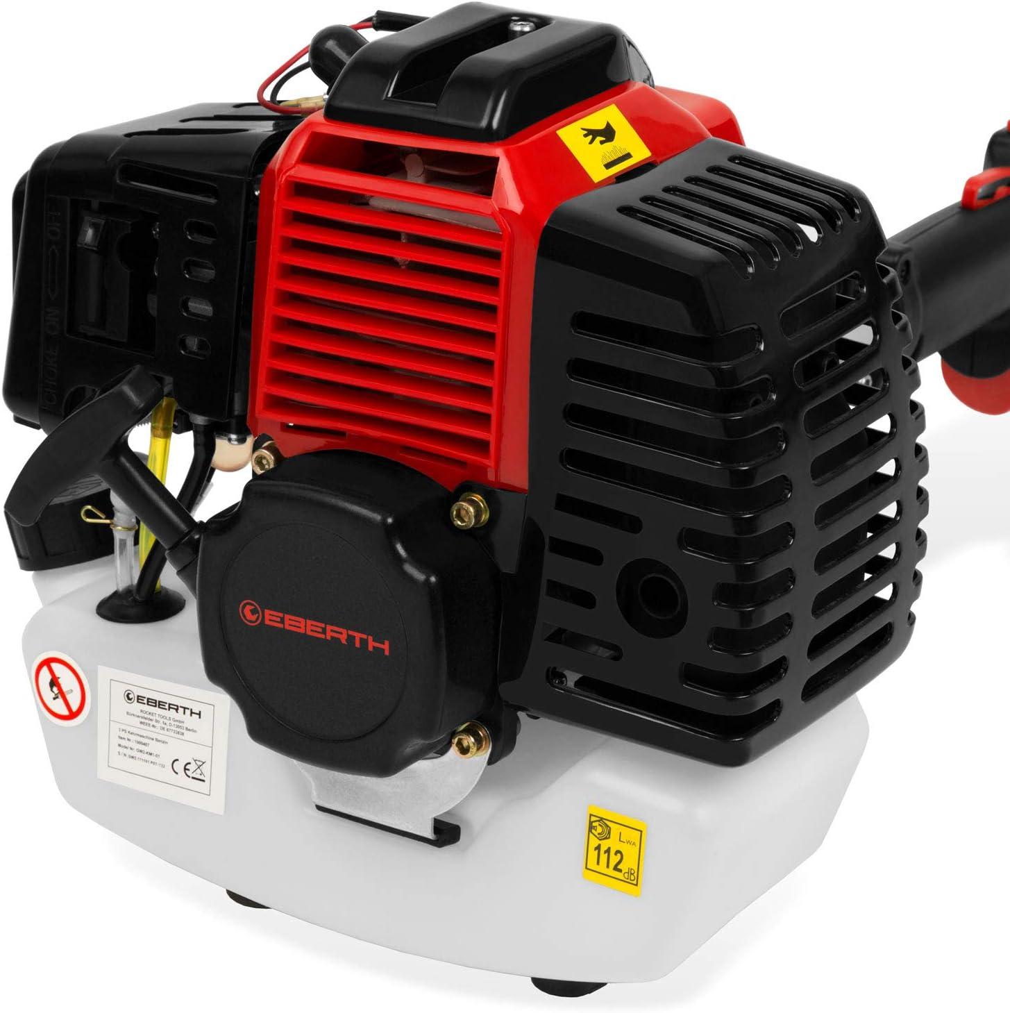 EBERTH 3 PS Benzin Motorbesen 2-Takt Benzinmotor, 60 cm Besenbreite, inkl. Tragegurt