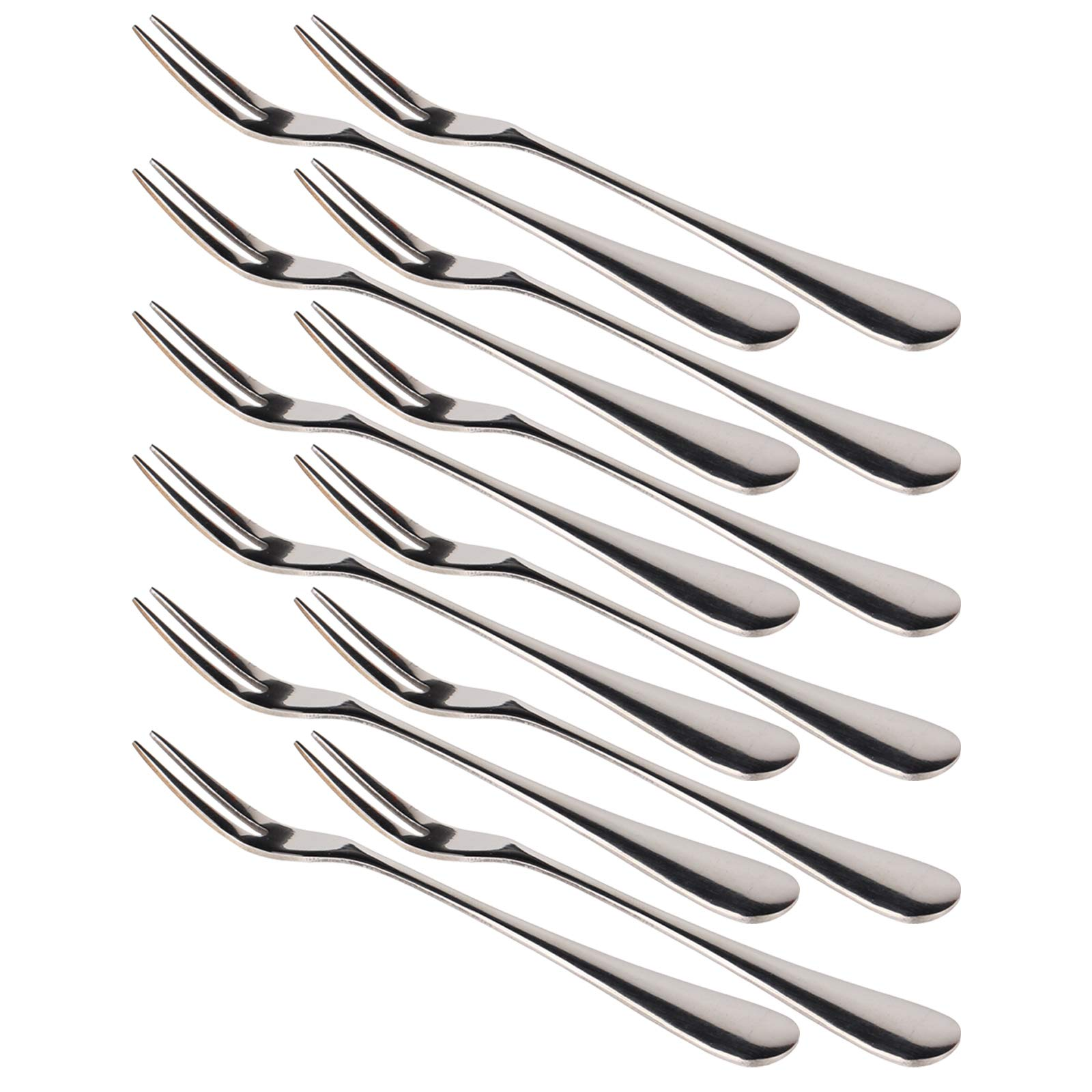 WARMBUY Small Stainless Steel Forks for Cocktail Appetizer Dessert Party, Set of 12