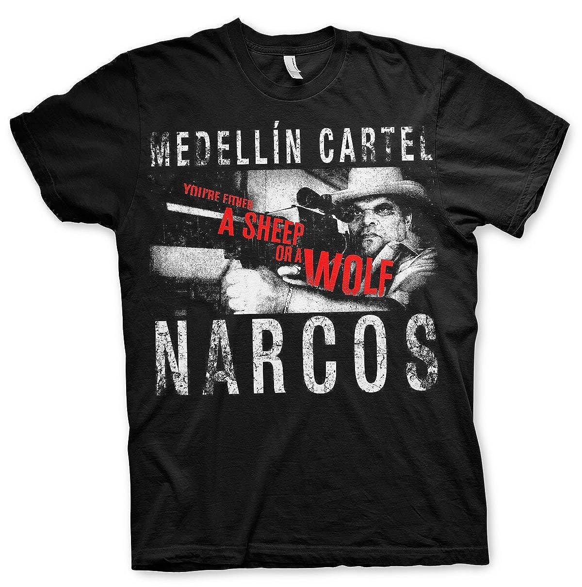 narcos - Medellin Cartel Hombres camiseta de (Black) negro X ...