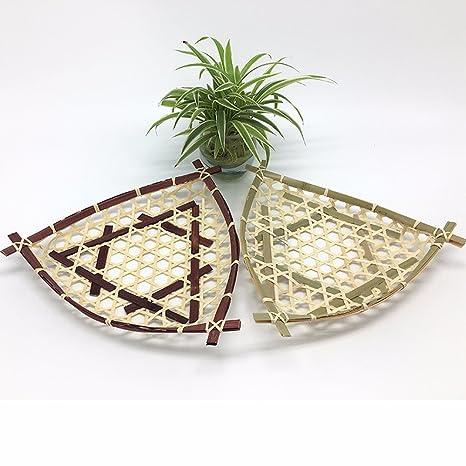 SSBY Handmade ideas de bambú canasta de frutas de la granja del hotel restaurante vajilla platos
