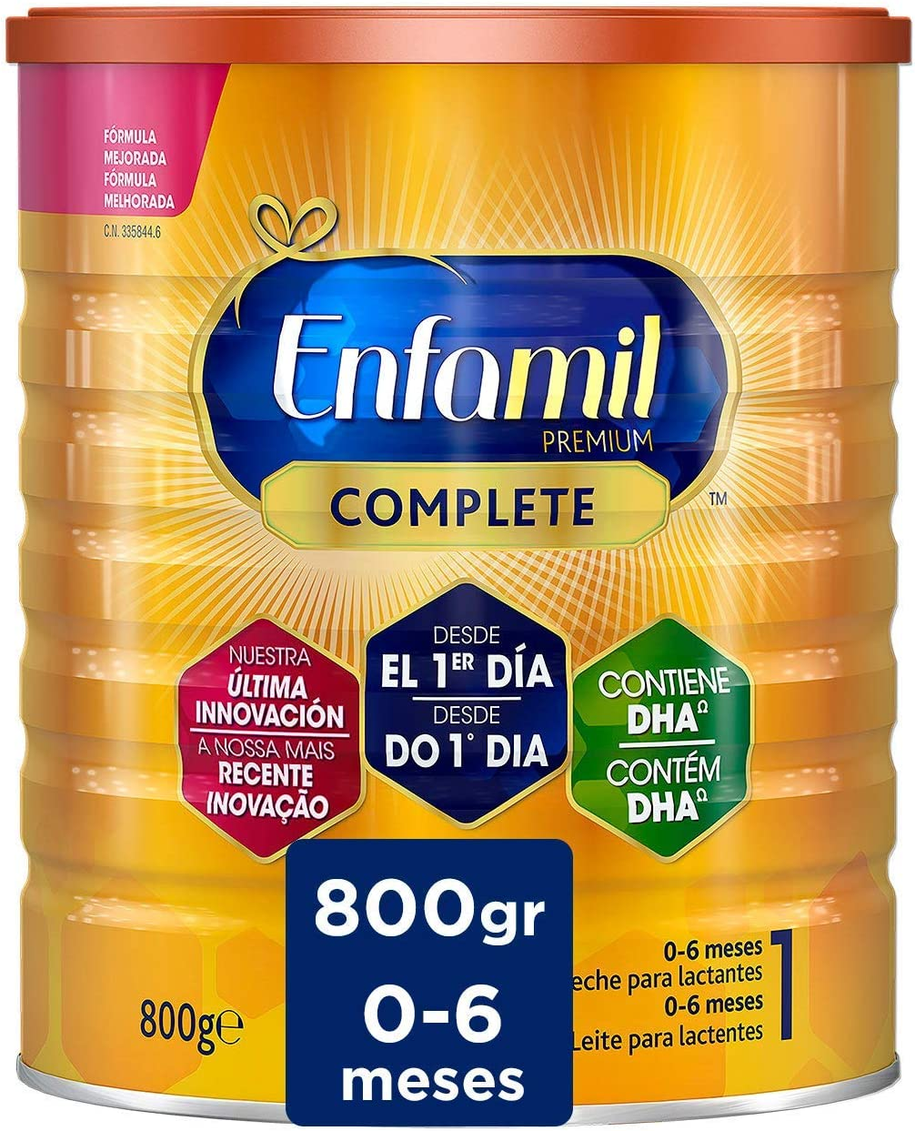 Enfamil Complete Leche Infantil para Lactantes de 0 a 6 Meses, 800g