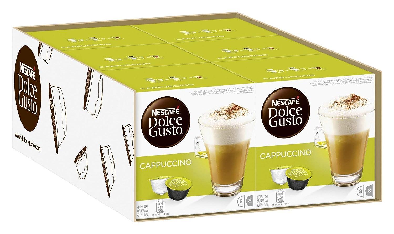 Nescafé Dolce Gusto Cappuccino, Paquete de 6 (96 Cápsulas): Amazon.es: Hogar