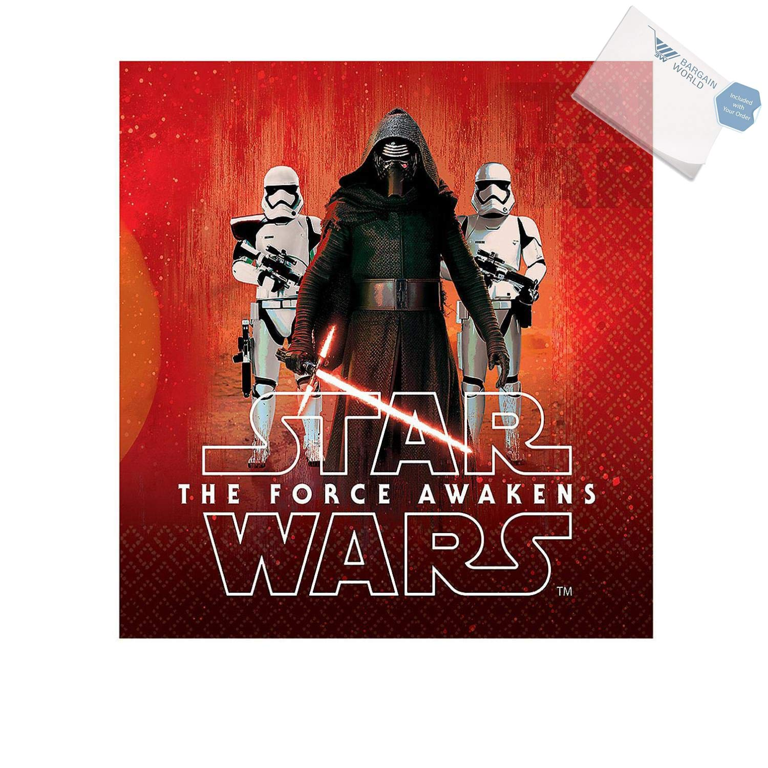 Bargain World Star Wars Episode VII: The Force Awakens Luncheon Napkins (With Sticky Notes) by Bargain World (Image #2)