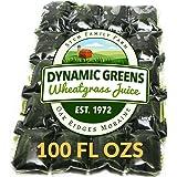 Dynamic Greens Wheatgrass Juice - 100 Fl Ozs - Just $1.89 Per Oz - Field Grown - Flash Frozen - Unpasteurized - US-100 - 797734001020