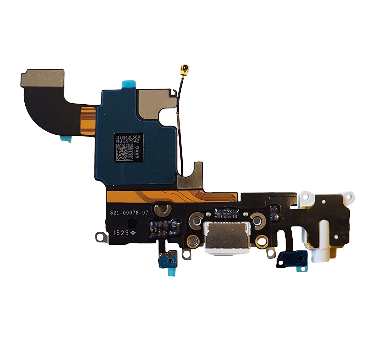 Altavoz Smartex Conector de Carga de Repuesto Compatible con iPhone 7 Gris Oscuro Antena Dock de repeusto con Cable Flex Micr/ófono y Conexi/ón Bot/ón de Inicio.